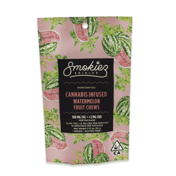 smokiez watermelon fruit chews